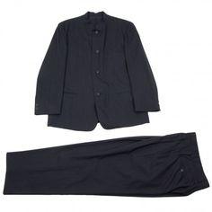 イッセイミヤケメンISSEY MIYAKE MEN ウールマオカラーセットアップスーツ チャコールL