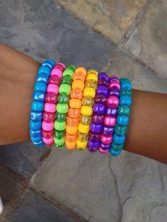 SALE Pony bead bracelets pony bracelet by infiniteyouthjewelry