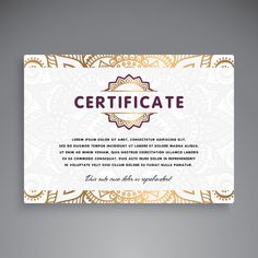Professional certificate template design Certificate Layout, Certificate Of Achievement Template, Certificate Design Template, Powerpoint 2010, Gift Card Number, Design Reference, Lorem Ipsum, Flyer Design, Vector Free