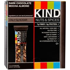 Kind Fruit Nut Bar dark chocolate mocha almond
