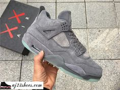 "8ba87d2c163 ATHENTIC KAWS X Air Jordan 4 ""Cool Grey"" from aj23shoes.com Kik"