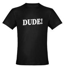 DUDE: Men's Fitted T-Shirt (dark)