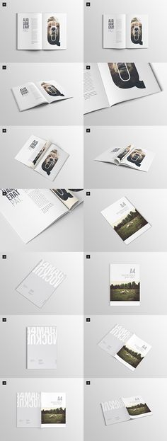 20 Free Magazine, Book & Brochure PSD Mock-up Templates