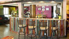 Repurposed wood bar