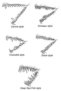 Exciting Learn To Draw Animals Ideas. Exquisite Learn To Draw Animals Ideas. Drawing Techniques, Drawing Tips, Drawing Reference, Drawing Sketches, Drawing Ideas, Sketching, Teeth Drawing, Dinosaur Drawing, Drawing Designs