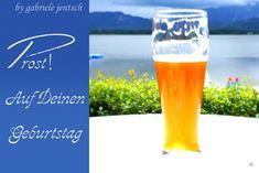 """Glückwünsche - Karte Geburtstag Geburtstagskarte """"Bier"""" - ein Designerstück von Gabriele-Jentsch bei DaWanda"""