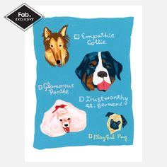 My design inspiration: Four Dogs on Fab.