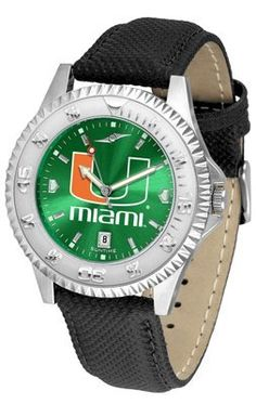 Miami Hurricanes- University Competitor Anochrome- Poly/leather Band - Men's College Watches by Sports Memorabilia. $78.73. Makes a Great Gift!. Miami Hurricanes- University Competitor Anochrome- Poly/leather Band