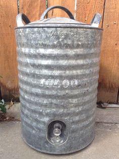 Remarkable, rather vintage horton galvanized metal cooler consider, that