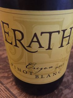 Erath is a producer of fine Oregon wines. Pinot Noir, Pinot Gris, and Pinot Blanc are some of their specialties. The 2012 Pinot Blanc was a knockout, I loved every sip. Cheers!