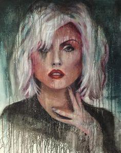 """Celine Achour """"Debbie"""" - 2016 Acrylique sur toile"""