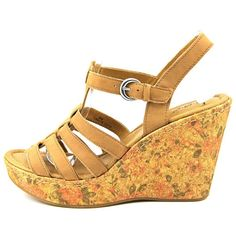 GOT IT ~ Dilani Women Leather Tan Wedge Sandal
