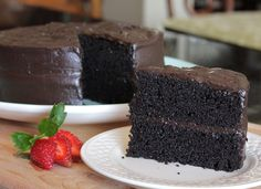 This is by far the best chocolate cake recipe you'll ever make. Use Hershey's Special Dark. You'll never make a box cake again. Dessert Cake Recipes, Best Cake Recipes, Köstliche Desserts, Delicious Desserts, Cupcake Recipes, Dark Chocolate Cakes, Homemade Chocolate, Flourless Chocolate, Decadent Chocolate