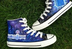 Doctor Who Shoes hand painted shoes Doctor Who Shoes custom pain,High-top Painted Canvas Shoes