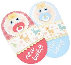 Baby card girl and boy