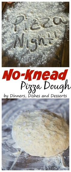 No Knead Pizza Dough – Make homemade pizza at home with this super easy no knead pizza dough!