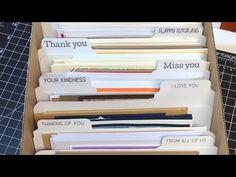 Greeting Card Box Storage