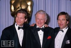 Lloyd Bridges (here with actor sons Jeff and Beau) worked up until his death at 85. He appeared in more than 150 films, becoming known to younger generations for slapstick comedies like the Airplane! movies and on the TV series Seinfeld. Oscar winner Jeff Bridges (left) is considered one of the finest actors of his generation, while older brother Beau Bridges began his long career in Hollywood as a child on his father's TV show Sea Hunt.