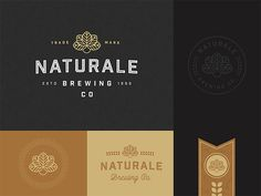 Naturale Brewing Co. Brand Exploration designed by Nathan Riley for green chameleon. Connect with them on Dribbble; Graphic Design Branding, Logo Branding, Typography Design, Logos, Logo Design Inspiration, Icon Design, Design Ideas, Jewelry Logo, Vintage Logo Design