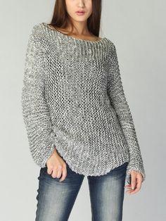 Hand stricken Pullover Eco Baumwolle lange Pullover von MaxMelody
