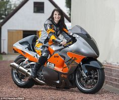 Becci Ellis, who has been named the fastest woman in the world after breaking the existing land speed record