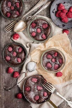 raspberry brownie tarts