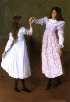 Children Dancing II (Alice And Edith Perry) by Lilla Cabot Perry (1848 – 1933, American)