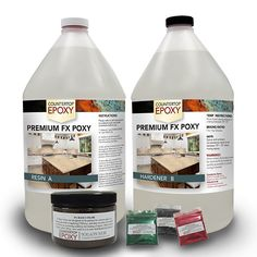 Create Your Own Countertop Bar Top Epoxy Kit with Prime Coat Colors and Metallic Mica Powders