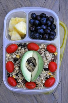 Gluten free vegan dinner-Quinoa with black beans