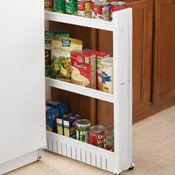 Under Cabinet Sliding Drawer Storage Rack from Collections Etc.