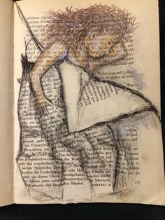 by Sylvia @ Book Page Art, Book Pages, Book Art, Memoirs, Mixed Media, Journal, Ideas, Watercolors, Mixed Media Art