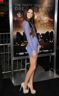 Kendall Jenner. Just look how skinny and freakishly tall she is!