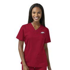 e950b51986f Scrub Identity - University of Arkansas Cardinal Women's V Neck Scrub Top,  $36.99 (https