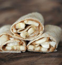 Almond Butter & Banana Snack Wraps
