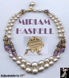 Miriam Haskell vintage jewelry - beautiful!