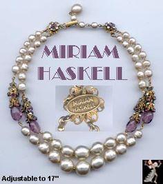 Miriam Haskell vintage jewelry - beautiful!