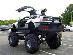 Custom DeLorean monster truck that just might travel back in time.