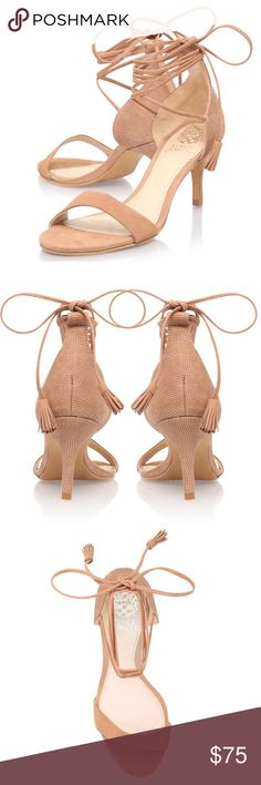 Vice Camuto Heels Worn a few times Super cute and comfortable  Comes in Vince Camuto Shoe Box Vince Camuto Shoes Heels