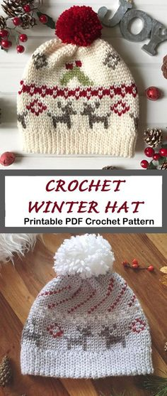 Make a cute Christmas hat. Crochet hat pattern – womens hat- Make a winter hat -… Make a cute Christmas hat. Crochet hat pattern – womens hat- Make a winter hat – A Crafty Life Häkelschal Make a Cozy Christmas Hat Crochet Christmas Hats, Crochet Winter Hats, Holiday Crochet, Crochet Beanie, Crochet Gifts, Free Crochet, Knitted Hats, Knit Crochet, Cozy Christmas