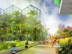MVRDV: expo plant library proposal for city of almere - floriade 2022