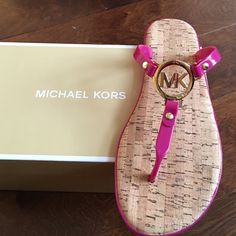 Michael kors fuschia pink sandals Brand new pair of sandals with box.❗️final price ❗️no further offers or bundle discounts ❗️ MICHAEL Michael Kors Shoes Sandals