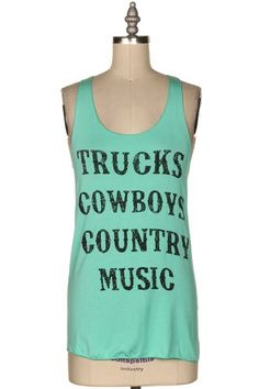 Mint Cowboy Tank - The Coveted Closet