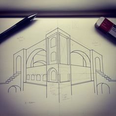 two point perspective by on deviantart perspective pinterest. Black Bedroom Furniture Sets. Home Design Ideas