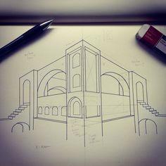 Perspectief tekenen tekencursus interieur schetsen for Cursus interieur tekenen