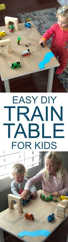 Easy DIY Paper Train Table for Kids