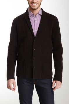 Double Knit Shawl Neck Merino Wool Blend Blazer  BlazerWomen #Men #Outerwear