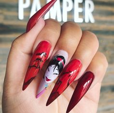 36 Amazing Acrylic Nail Ideas 2019 These trendy Nail Designs ideas would gain you amazing compliments. Check out our gallery for more ideas these are trendy this year. Disney Acrylic Nails, Halloween Acrylic Nails, Disney Nails, Crazy Nails, Dope Nails, My Nails, Gucci Nails, Beauty Hacks Nails, Beauty Tips