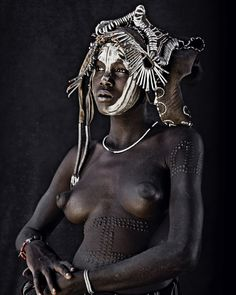 Jimmy Nelson Artprint          XI 253D, Mursi, Hilao Moyizo Village, Omo Valley, Ethiopia, 2011 Tribal Images, Jimmy Nelson, Africa People, African Tribes, People Of The World, African Beauty, Color Photography, Sensual, Lovers Art