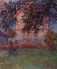 Maison de Monet à Argenteuil, huile sur toile de Claude Monet (1840-1926, France)