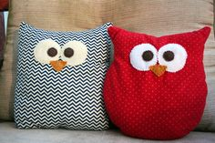 Cute owl pillows mutiple fabric patterns by DeVitaDesigns on Etsy, $10.00